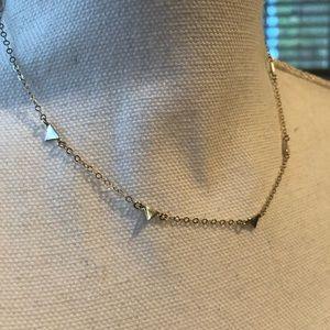 Jewelry - Gold Tiny Triangle Station Necklace